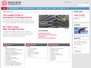 nucleus research production site